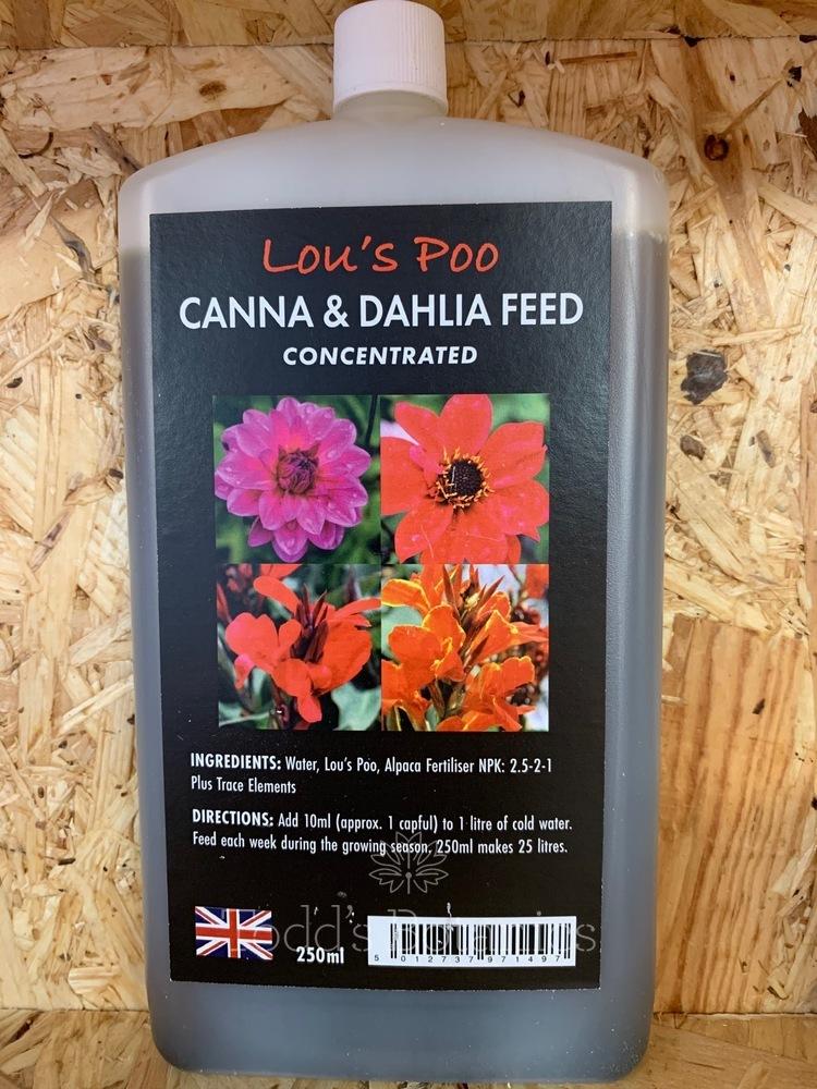 Lou's Poo Canna & Dahlia Feed